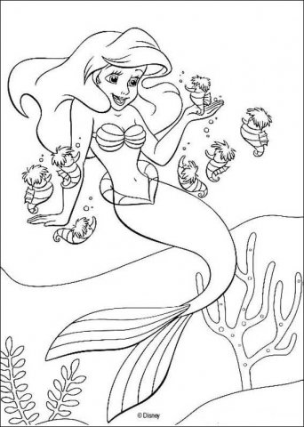 Ariel, The Little Mermaid Coloring Page