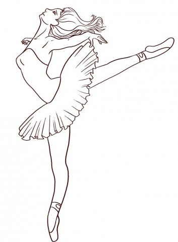 Dance Coloring Page